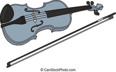 kék, hegedű
