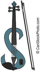 kék, hegedű, elektromos