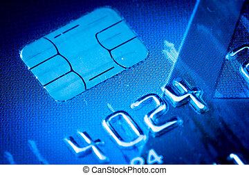 kék, hitel, szilánk, kártya