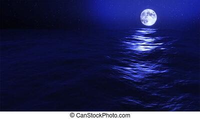 kék, holdtölte, lenget, (1031), óceán