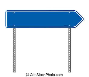 kék, igazgató, út cégtábla