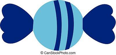 kék, illustration., szín, cukorka, vektor, vagy