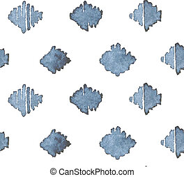 kék, indigókék, motívum, seamless, kéz, húzott