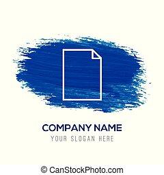 kék, jegyzet, -, vízfestmény, háttér, ikon