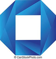 kék, jel, geometriai