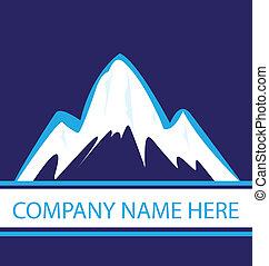 kék, jel, haditengerészet, hegyek