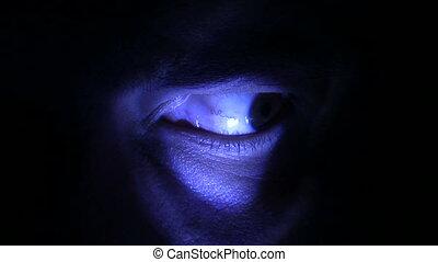 kék, kísérteties, szem