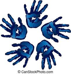 kék, karika, vektor, kreatív, kézbesít
