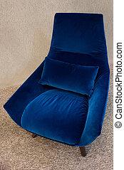 kék, karosszék, modern