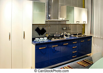 kék, konyha