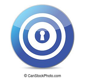 kék, kulcs, céltábla, ábra