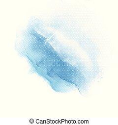 kék, lemos, vízfestmény, háttér