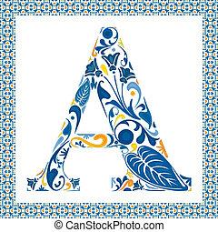 kék, levél