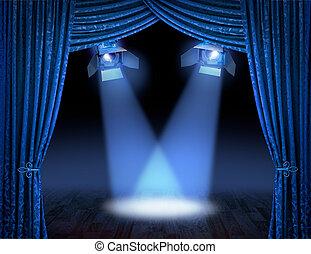 kék, lokátorral helyet határoz meg, reflektorfény, premier
