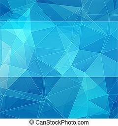 kék, mód, elvont, háromszögű, háttér