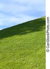kék, mező, zöld ég