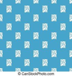 kék, motívum, gyűrött újság, seamless