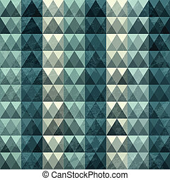kék, motívum, háromszög, seamless