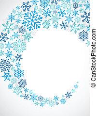 kék, motívum, hópihe, háttér, karácsony