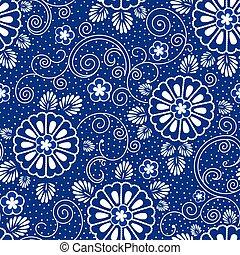 kék, motívum, japán