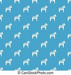kék, motívum, ló, játékszer, seamless