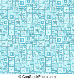 kék, motívum, seamless, háttér, fehér, blokkok, geometriai
