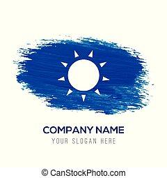 kék, nap, -, vízfestmény, háttér, ikon