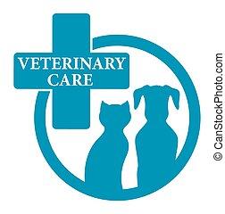 kék, orvosi, állatorvos, aláír