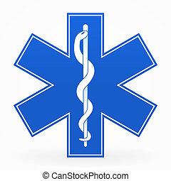 kék, orvosi cégtábla