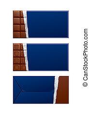 kék, package., csomagolás, csokoládé, sötét, tiszta