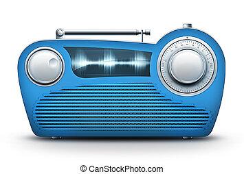 kék, rádió