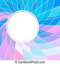 kék, rózsaszínű, karikák, frame., szín, elvont, alakzat., háttér., vektor, karika, kerek