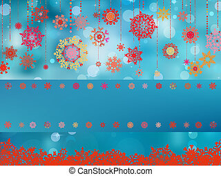 kék, snowflakes., eps, háttér, 8