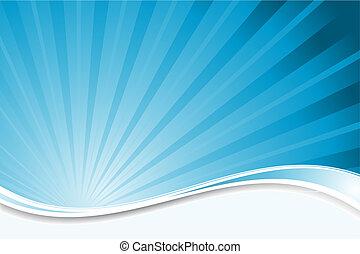kék, starburst, háttér