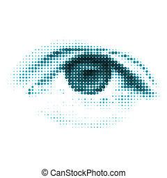 kék, szín, eps, emberi, digitális, 8, eye.