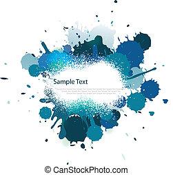 kék, szín, loccsanás, hangsúly