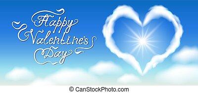 kék, szív, gratuláló, elhomályosul, szöveg, ég felhő, kézírásos
