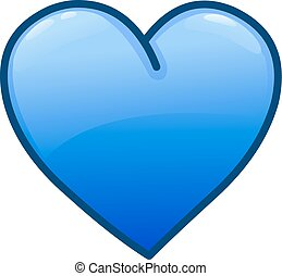 kék, szív, ikon
