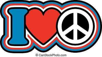 kék, szív, piros, béke, fehér