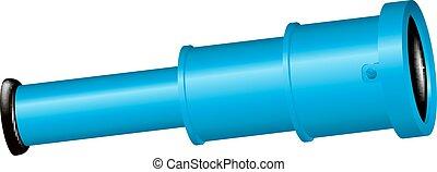 kék, szüret, tervezés, fény, fekete, kis kémtávcső