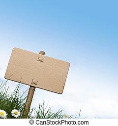 kék, szoba, fából való, szöveg, tető, ég, aláír, menstruáció, zöld, tiszta, fű, óriási sajtkorongok