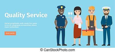 kék, szolgáltatás, fogadalmak, elszigetelt, 4, minőség