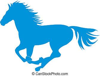 kék, táncolás, ló