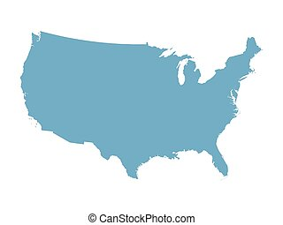 kék, térkép, egyesült államok, egyesült