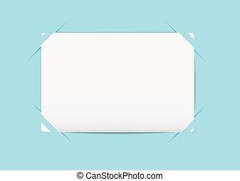 kék, tartó, névjegykártya