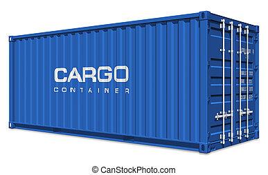 kék, teherárú tároló