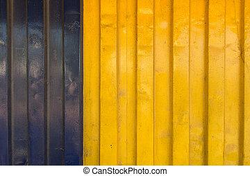 kék, teherárú tároló, struktúra, sárga, hajó