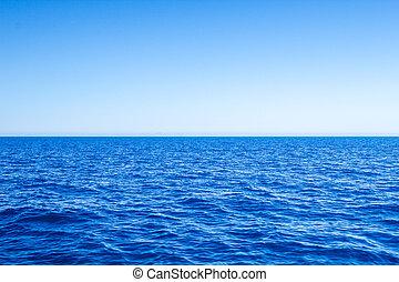 kék, tenger, sky., kilátás a tengerre, világos, tengertől távol eső, horizont megtölt