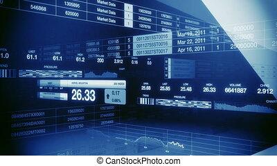 kék, tickers, seamless, piac, részvény