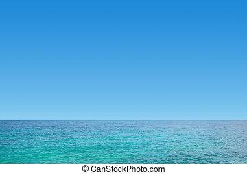 kék, tiszta égbolt, tenger, kedves